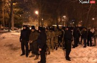 Police detain camouflaged men over Kharkiv shootout