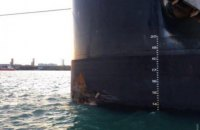 Foreign bulk carrier hit pier in Odesa Кegion