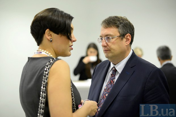 Sonya Koshkin and Anton Herashchenko, an adviser for the interior minister