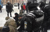 SBU to check police crackdown on protest camp