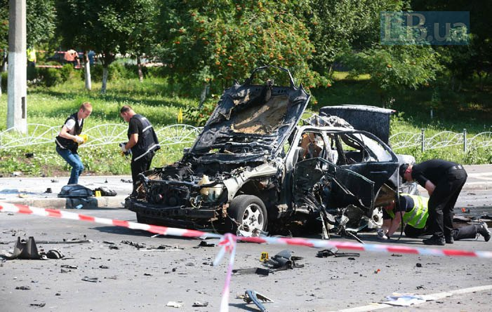 Main Intelligence Directorate Col Maksym Shapoval was killed in a car blast in Kyiv, 27 June 2017