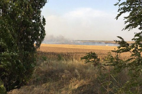 Arms depot catches fire near Mariupol