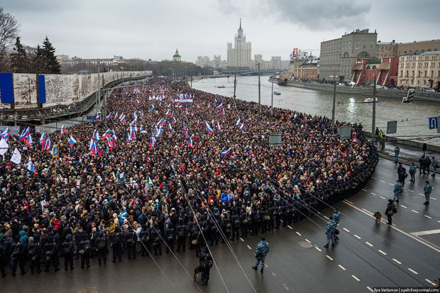 March in memory of Nemtsov in Moscow, 1 March 2005