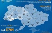 Ukraine reports 3,764 coronavirus cases