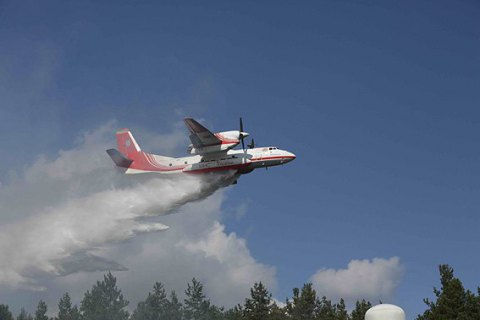 Ukraine sends plane to help Sweden battle wildfires