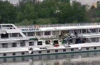 Two Ukrainian cruise ships collide on Hungary's Danube