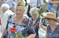 ​Pro-Russian forces march in Kyiv on Mourning Day
