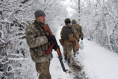 Four Ukrainian servicemen wounded in Donbas