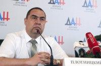 Luhansk chieftain Plotnytskyy denies fleeing to Russia