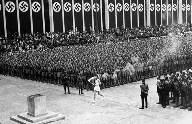 The opening of the 11th Summer Olympic Games in Berlin, 1 August 1936