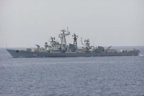 Russian naval ship enters area sealed for Sea Breeze drill