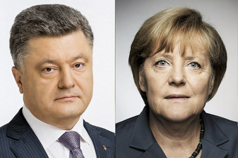 Merkel to Poroshenko: nothing about Ukraine without Ukraine
