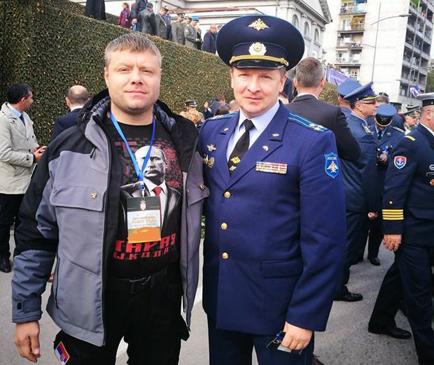 Nemanja Ristić and the Russian military attache in Serbia, Col Andrey Kindyakov