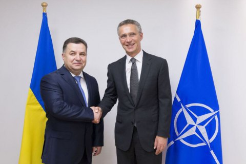 Ukrainian minister discusses defence reform at NATO HQ