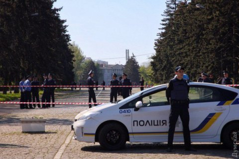 Police find grenades in underpass near Odesa rally site