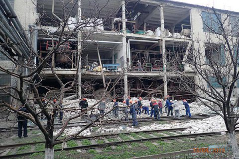 Woman killed by plant blast in Lysychansk
