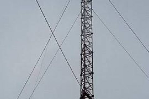 Tower installed on Chonhar to broadcast to Crimea