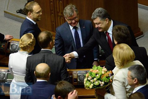 Poroshenko behind Tymoshenko in popularity polls