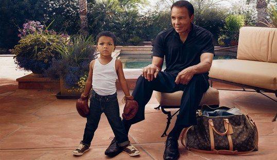 Мохаммед Али с внуком в новой кампании Louis Vuitton