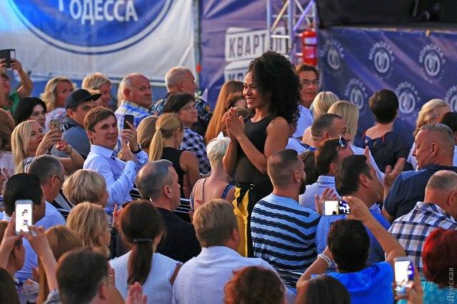 Гайтана присутствовала на концерте Лаймы в качестве зрителя
