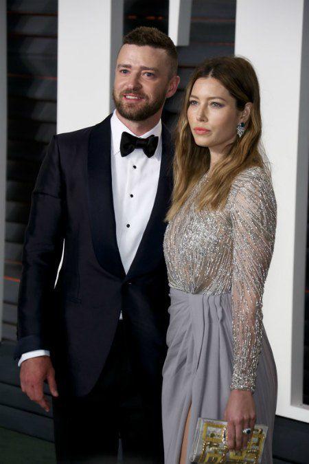 Джастин Тимберлейк с женой Джессикой Билл