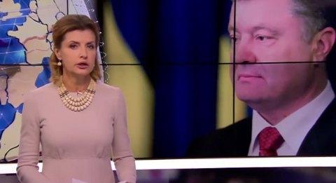 """Марина Порошенко поздравила мужа """"экстренным выпуском новостей"""""""
