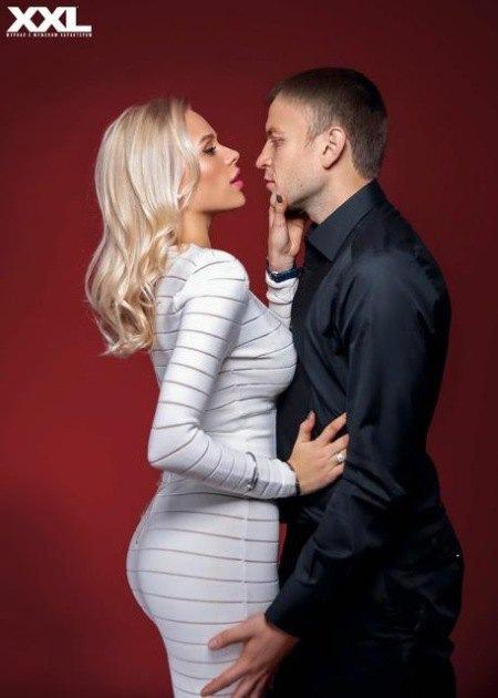 Футблист Олег Гусев со второй женой Марией
