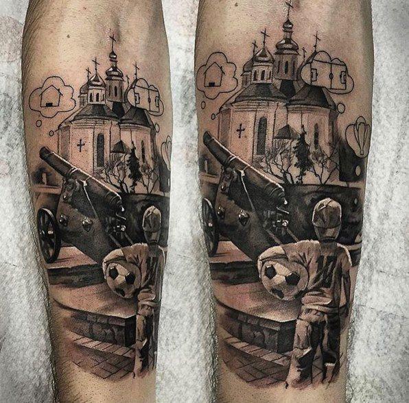Новая татуировка Андрея Ярмоленко