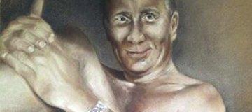 Украинка нарисовала голого Путина