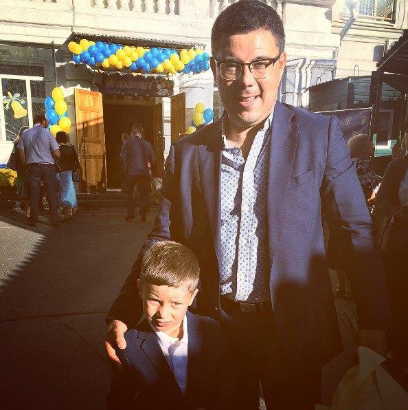Школьник появился и в семье политолога Тараса Березовца