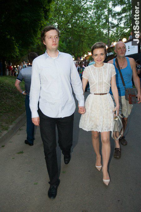 Сын президента Алексей Порошенко с женой