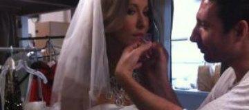 Ксения Собчак облачилась в свадебное платье