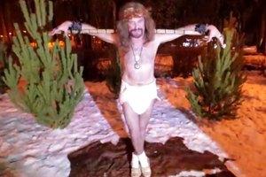 Джигурда в образе Иисуса Христа в новом клипе