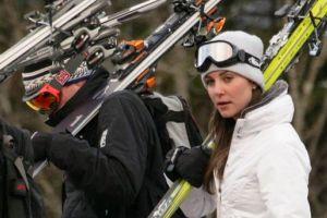 Кейт Миддлтон и принц Уильям покатались на лыжах