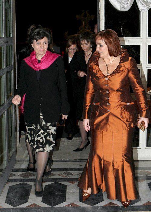 Первая леди России Людмила Путина с женой премьер-министра Италии