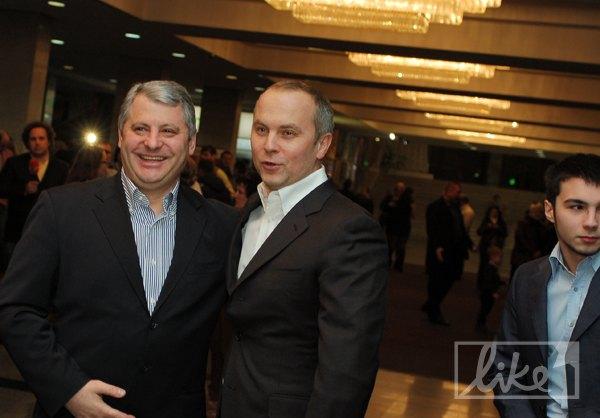 Нестор Шуфрич посетил концерт вместе с сыном (справа)