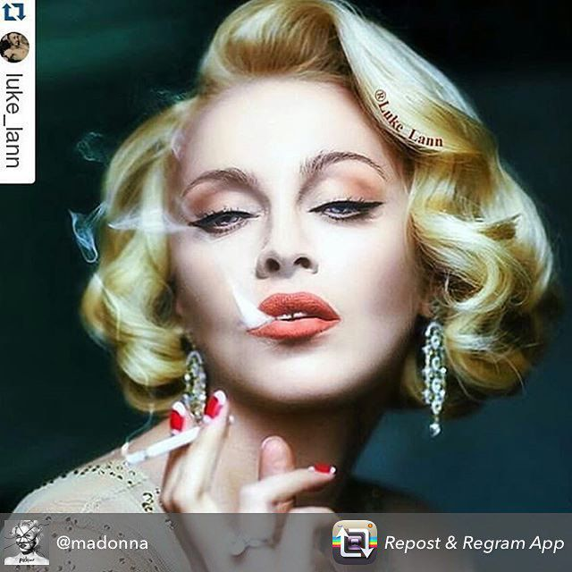 Оля Полякова поделилась публикацией своей фотографии со страницы Мадонны