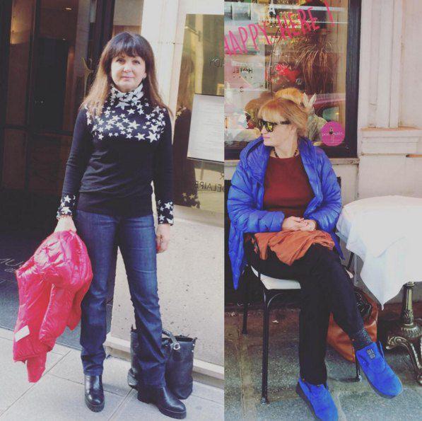 Мама Эдгара Каминского (слева) и мама Славы в прошлые выходные уехали в Париж