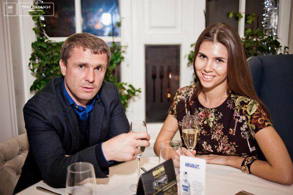 Сергей Ребров с Анной