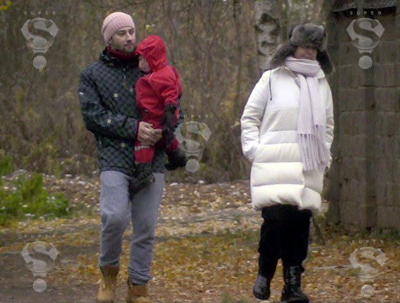 Жанна Фриске с мужем Дмитрием Шепелевым и сыном Платоном