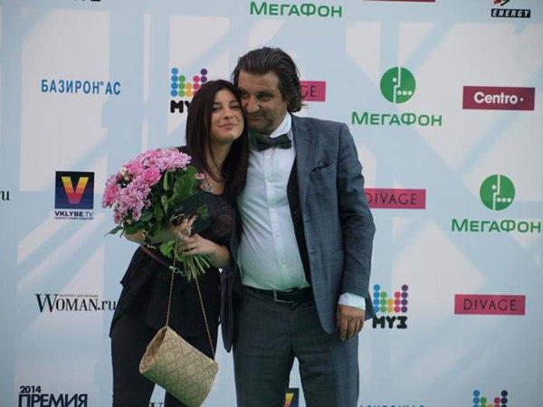 Отар Кушанашвили со спутницей