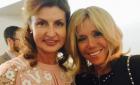 Марина Порошенко в вышитом платье встретилась с первой леди Франции
