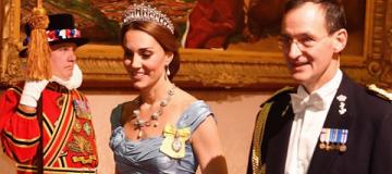 Кейт Миддлтон в тиаре принцессы Дианы стала звездой на королевском приеме