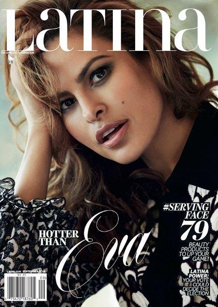 Ева Мендес на обложке журнала Latina