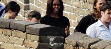 Мишель Обама с детьми посетила Великую Китайскую стену