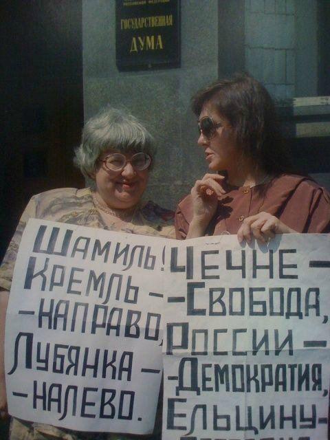 Валерия Новодворская призывает чеченцев прийти и навести порядок