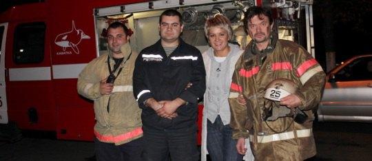 Остап Ступка в пожарной части