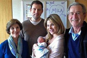 Джордж Буш-младший показал внучку