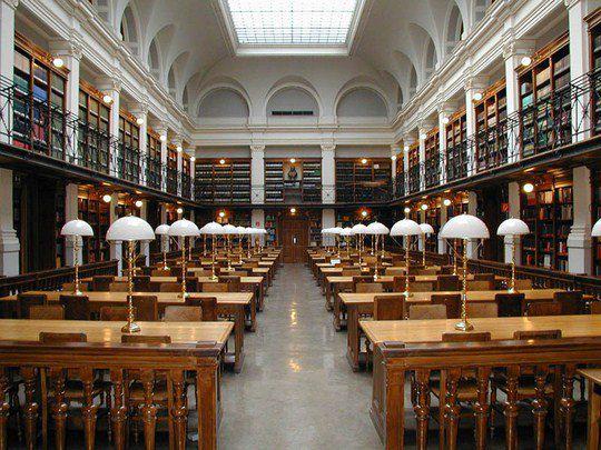 Читальный зал библиотеки Грацского университета имени Карла и Франца в Австрии