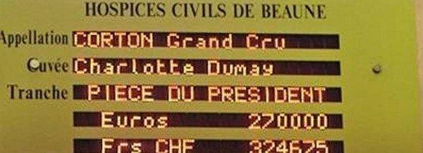 Лот с вином был куплен за 270 тыс. евро